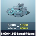 Fortnite 6000+1500 V-Bucks