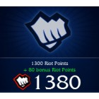 League of  Legends LOL 英雄聯盟(美服)  1380 聯盟幣 直充