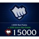 League of  Legends LOL 英雄聯盟(美服) 15000 聯盟幣 直充