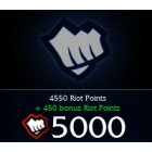 League of  Legends LOL 英雄聯盟(美服) 5000 聯盟幣 直充