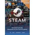 Steam $1000 港幣 充值卡